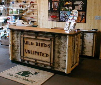 Rustic Sales Counter, Wild Birds Unlimited