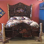 rustic furniture, rustic bed, Adirondack furniture