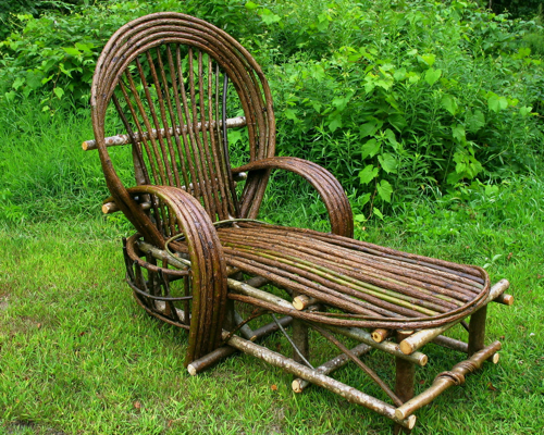 Custom Rustic Furniture By Don Mcaulay Bent Willow Chaise Lounge