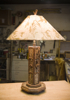 rustic lighting, rustic lamp, Adirondack rustic