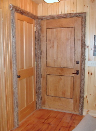 rustic interior elements adirondack door trim home