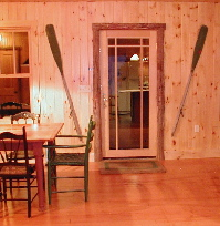 log trim, log molding, rustic interiors