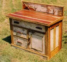 Rustic Commode, Birch Bark Furniture, Rustic